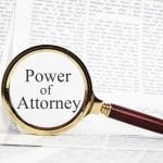 Power Of Attorney Concept - Paperwork Representing A Power Of At