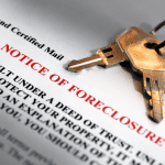 notice of foreclosure form with keys