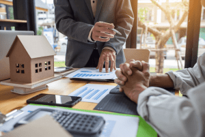 reviewing mortgage with a consultant